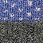 Comb. Periwinkle-Natural American Brushed Alpaca Hat