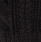 Black Classic Cable Alpaca Gloves