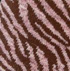 Ballet Rose Mlge.-Brown Zebra Alpaca Socks