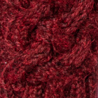 Shadow Cable Alpaca Hat in Burgundy Mlge.