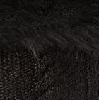 Black-FurBlack Diamond Cable Alpaca Fur Hat