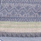 C0211-Denim-Green Alpaca Cherokee Blanket