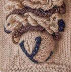 Beige Comb. 2 Alpaca Kids - Alpaca Fingerless Gloves