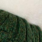 Green Mlge  Priscilla Alpaca Fur Pompom Hat