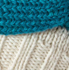 Natural-Blue Jade Knitted Alpaca Hat with Classic Bow