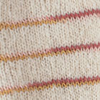 Natural Comb.1 Brushed Striped Alpaca Fingerless Gloves