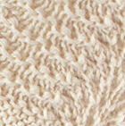 Natural Scallop Lace Alpaca Hat