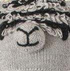 Lt. Grey Comb. 3 Alpaca Kids - Alpaca Hat with Ear Flaps