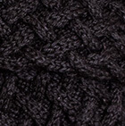 Shadow Cable Alpaca Scarf in Black
