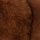 "Brown Baby Alpaca Fur-Unicorn Ornament 12"""
