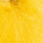 "Mustard Keychain Baby Alpaca Fur Face 4"""