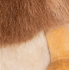 "Various Baby Alpaca Fur-Lion Ornament 18"""