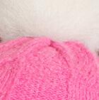 Pink Alpaca Fur Pom Pom Cable Hat