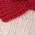 Natural-Guinda Knitted Alpaca Hat with Classic Bow