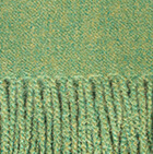 Frost Green Woven & Brushed Baby Alpaca Throw