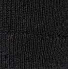 Black Men's Double Knit English Alpaca Hat