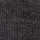 Charcoal Men's Double Knit English Alpaca Hat