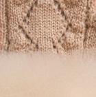 Beige-FurBeige Presley Alpaca Fingerless Gloves with Fur