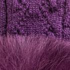 Purple-FurPurple Presley Alpaca Fingerless Gloves with Fur