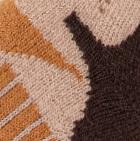 Beige-Brown-Camel Alpaca Ski & Snowboard Socks Light Weight