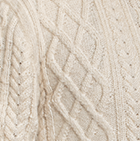Natural Men's Alpaca Crewneck Pullover Sweater