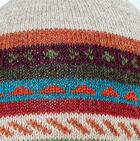 Glacier Grey-Multicolor Jacquard Striped Alpaca Hat