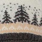 Natural-Beige-Charcoal Scandinavian Winter Alpaca Hat - Fleece Lining