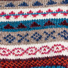 Natural-Multicolor Fair Isle Alpaca Fingerless Gloves