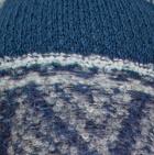 Lt. Grey-Steel Blue Shipibo Alpaca Boucle Gloves