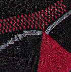 Burgundy-Black Unisex Shorty Athletic Alpaca Socks