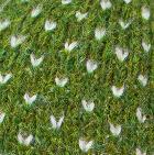 Comb. Green Mlge.-Natural American Brushed Alpaca Fingerless Gloves