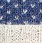 Comb 1. Prussian Blue-Natural American Brushed Alpaca Hat