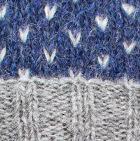 Comb. Prussian Blue-Natural American Brushed Alpaca Hat