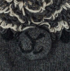 Charcoal  Alpaca Kids - Alpaca Hat with Ear Flaps