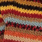 Multicolor 11 Striped Alpaca Fingerless Gloves