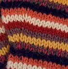 Multicolor 12 Striped Alpaca Fingerless Gloves