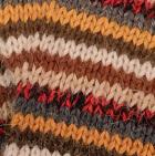 Multicolor 13 Striped Alpaca Fingerless Gloves