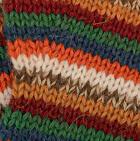Multicolor 14 Striped Alpaca Fingerless Gloves