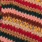 Multicolor 26 Striped Alpaca Fingerless Gloves