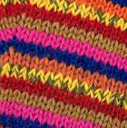 Multicolor 28 Striped Alpaca Fingerless Gloves