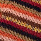 Multicolor 42 Striped Alpaca Fingerless Gloves