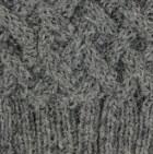 Grey Mlge. Shadow Cable Alpaca Hat