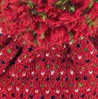 Red Snowfall Brushed Alpaca Hat