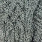 Grey Mlge Shadow Cable Alpaca Fingerless Gloves