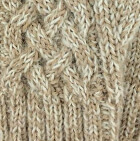 Mixt. Beige-Natural Shadow Cable Alpaca Fingerless Gloves