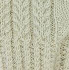 Natural Herringbone Alpaca Fingerless Gloves