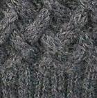 Grey Mlge. Shadow Cable Alpaca Scarf