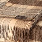 102-Beige-Brown Heather Scottish Blanket Heavy Weight