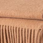 Beige Alpaca Solid Blanket