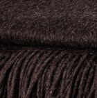Black Alpaca Solid Blanket